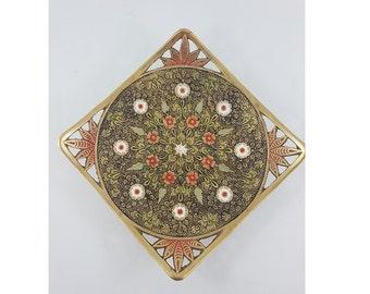 Vintage Brass Tray, Boho Tray, Boho Decor, Eclectic decor, Global Decor, Boho Chic, Decorative Tray, Bras Tray