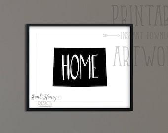 Colorado State Home Pride Printable | Downloadable Prints