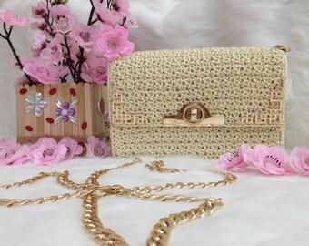 Crocheted bag-Handmade bag-crochet small bag-bag-bag-box bag - MTmini 04