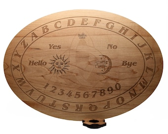 Wood Ouija board in Hard Maple 15 x 10.5 in