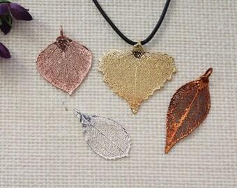 SALE Leaf Necklace, Real Leaf Necklace, Maple Leaf, Aspen, Christmas Gift, Holiday, Gift Set, Rose Leaf, Teacher Gift, Bookmark, SALE295