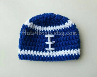 Baby Indianapolis Colts Hat, Crochet Colts Hat, Indianapolis Colts Football Hat, Newborn Colts Photo Prop, Infant Indianapolis Colts, Baby