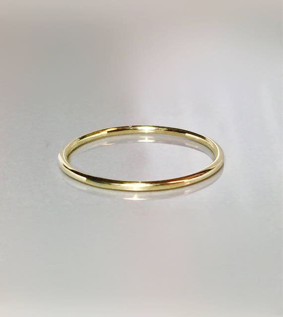 SALE 10k 14k Solid gold La s Rings 1mm Gold Bands Gold