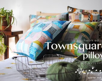 Townsquare Pillow Sewing Pattern-PDF pattern