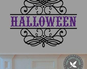 Halloween Scroll | Vinyl Wall Home Decor Decal Sticker