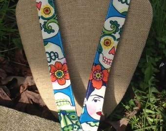 Lanyard Spanish Teacher Lanyard Art Teacher Lanyard Spanish Art Day of the Dead Skull Lanyard