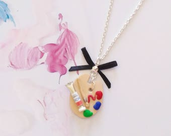 necklace painting palette artist