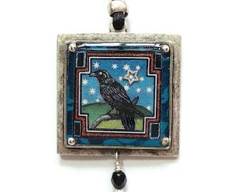 Mystical Raven Pendant