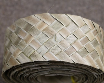 Small roll Lauhala belt , woven, Belting, -15 foot roll- you choose width- for Polynesian costuming