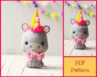 Hippopotamus pattern (PDF Pattern)