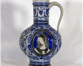 Beautiful glazed stoneware German jug