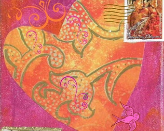 Carte de Vierge amour coeur abondante