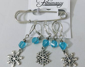 Welp, It's Winter! Stitch Markers/Shawl Pin - Knit and Crochet