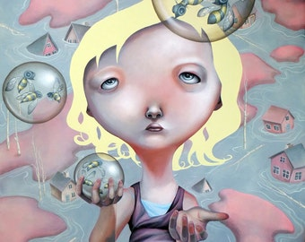 """Limited edition Giclee print """"Last resort 03"""" lowbrow"""