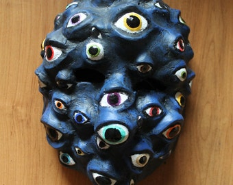 All-Seeing Mask | Paper Mache Mask | Costume