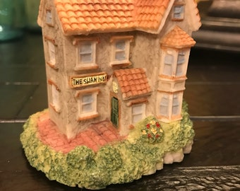 Vintage Handpainted Cornwall Cottages The Swan Inn