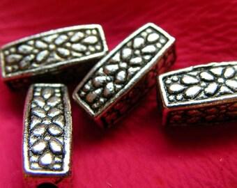 Lot 10 rectangular tube beads