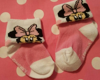 Minnie Mouse Pink Footies