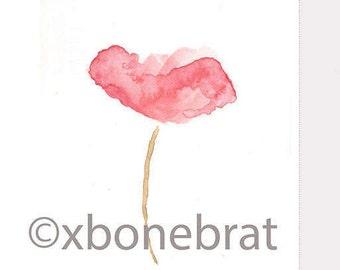 POPPY Digital Art. Digital Print Download. Printable Art. Watercolor. Greeting Card. Digital Card. Floral Cards. Painting. Art Print.