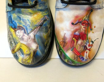 custom artist painted men's shoes...choose your theme!