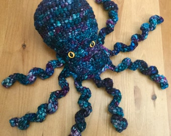Octopus - crocheted- stuffed animal