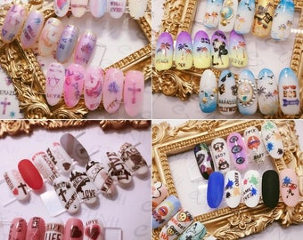 Nail Art Water Seal Supplies[Sailo Moon/Bear/Metal Line/Nial Art/ BIG LONDON/Pray]