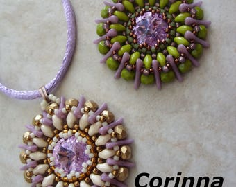 Corinna pendant beading pattern