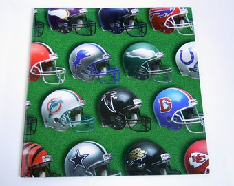 Vintage 1996 Men's Football Helmet Wrapping Paper Green Official NFL Football Gift Wrap