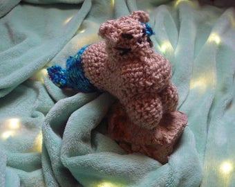 Merkitten / Mythical kittens / crochet cat plushy / mini mermaid