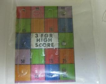 Vintage CJ Cracker Jack Dexterity Puzzle Prize Premium 1973 3 for High Score