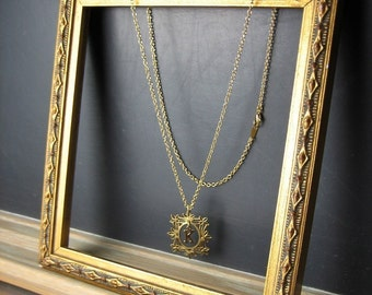 Framed Letter Necklace