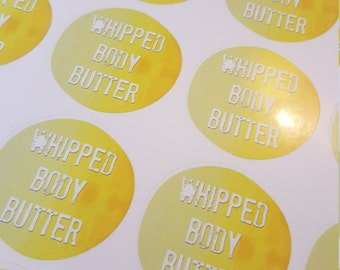 """Set of 4 Labels """"Whipped Body Butter"""""""