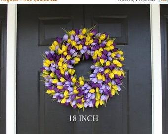 SPRING WREATH SALE Spring Wreath- Front Door Wreath- Lavender Wreath- Spring Wreath for Door- Summer Wreath