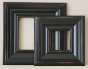 Sizes 12x16 to 16x20 Wood Picture Frame / Tuscan Black  / Whistler Style