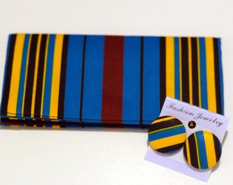 African print cash wallet/ Chequebook cover/ Fabric covered Chequebook/ Gifts for her/ Wallet for her/