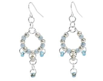 Silver Lake Bead Earrings