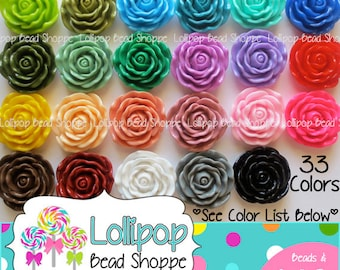 45mm JUMBO ROSE Beads Chunky Beads Plastic Flower Beads Large Roses Resin Chunky Necklace Bead Bubble Gum Beads Bubblegum Beads...PICK Color