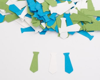 Little Man Baby Shower- Baby Boy Shower Decoration - Tie Confetti - Blue Green