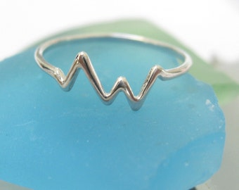 Silver Heartbeat ring - Sterling Silver*