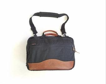 Vintage Jansport Messenger Bag Quality Outdoor Gear Black Brown Leather Briefcase Pouch Tote Bag Book Bag Computer Ipad Carrier Hipster Bag