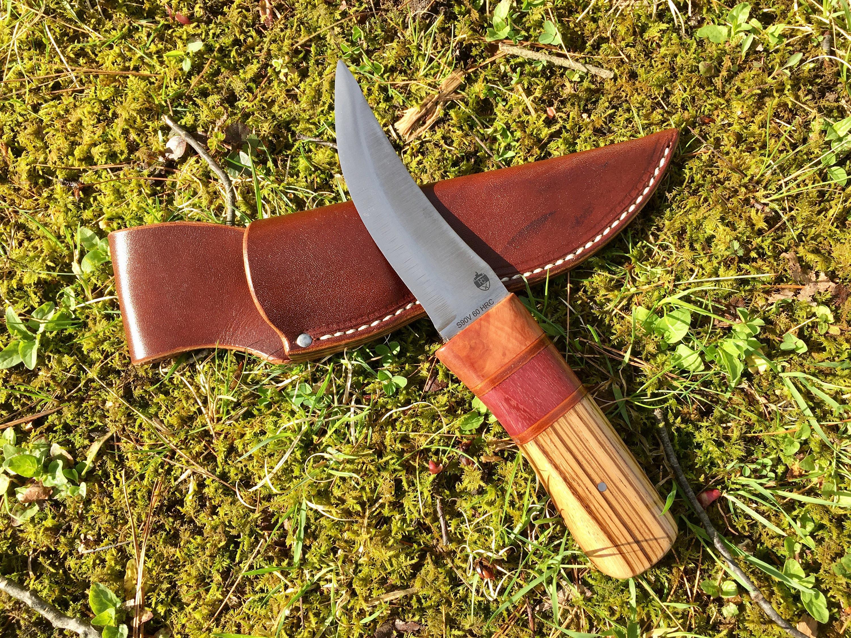 Enthäuten Messer mit S90V Klinge stabilisierte Apfel