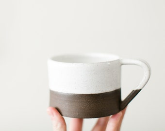 SALE - Terrain Mug Glazed in Alabaster - Perfect for coffee or tea