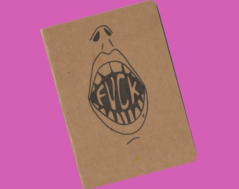 Scream and Shout | A5 Lined Paper | Hella Cute