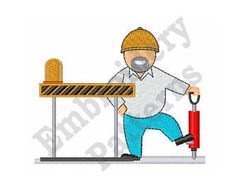Construction Worker - Machine Embroidery Design