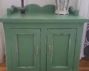 Little Country cabinet Magnolia Green distressed