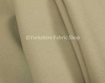 Soft Faux Leather In Plain Textured Matt Finish Beige Colour Upholstery Fabric  - Sold By The 10 Metre