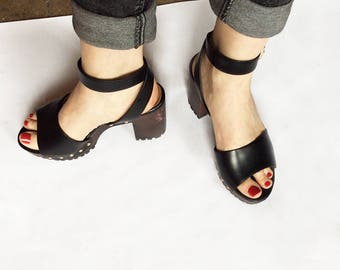 Sandals with rein wedge heels - Size 39