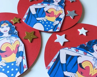 Wonder Woman Pop-Up Invitations - Wonder Woman Invitation - Wonder Woman Birthday - Pop-Up - Blank Card - Custom Order Available - 10/Pack