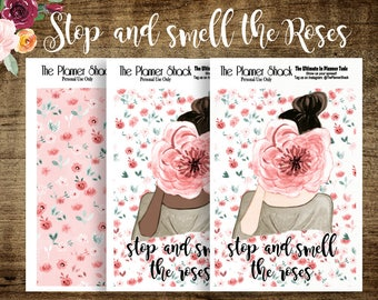 A5 TN Smell The Roses | Printable Dashboard | Travelers Notebook | Travelers Notebook Dashboard | Printable | Floral | Spring | Summer