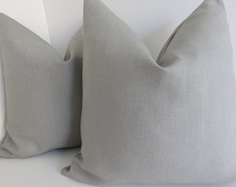 Solid Light  Gray Linen Pillow Covers- Gray Pillow covers- Gray Pillows- Linen Pillows